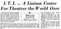 Kurtz on ITI Courier Vol I, 6, 1948
