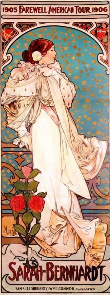 sarah bernhardt american fareell tour_Mucha 1906