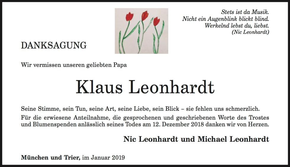 danksagung leonhardt